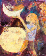 """""""Holding the Moon,"""" by Jacqui Beck. Zoë has a gentleness about her even as she stands for what she believes."""