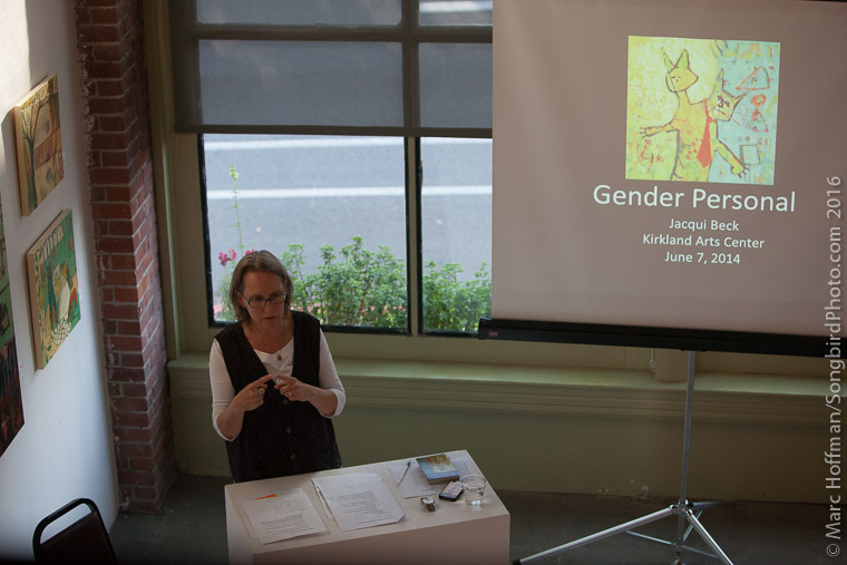 Jacqui presenting about Gender Personal