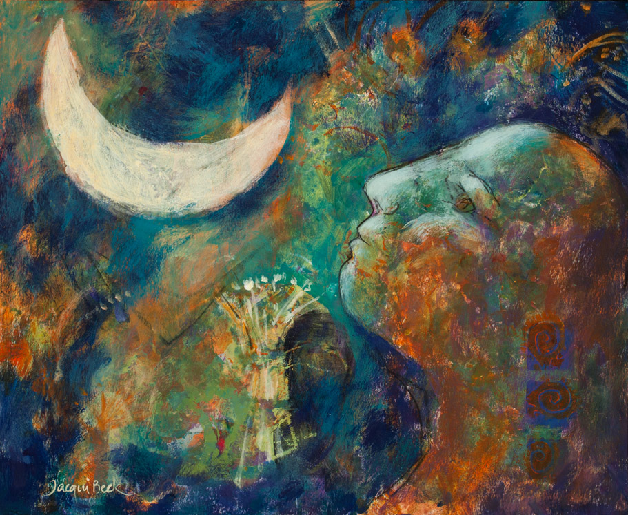 """Light of the Moon,"" by Jacqui Beck, inspired by Laura."