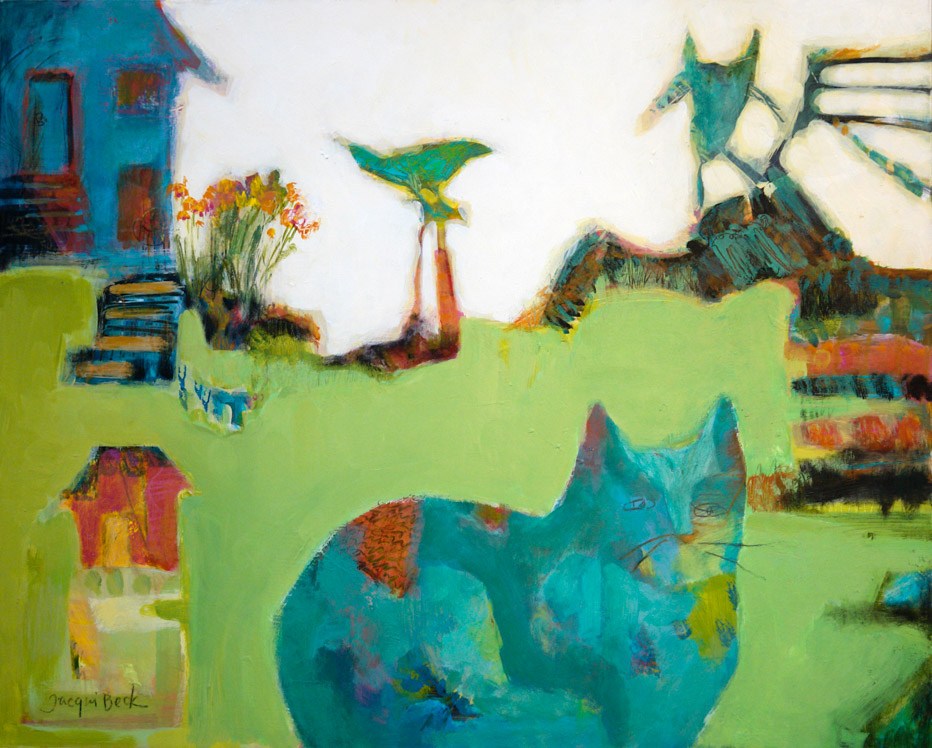 """At Home,"" by Jacqui Beck, inspired by Zoë"