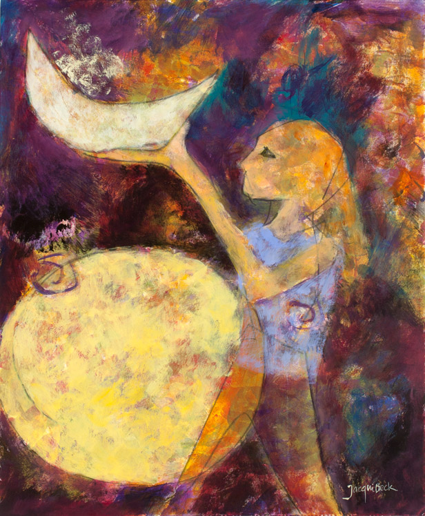 """Holding the Moon,"" by Jacqui Beck, inspired by Zoë."